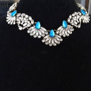 BaubleBar Choker with Crystal and Blue Stones